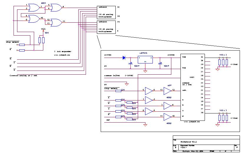analog mux schematic